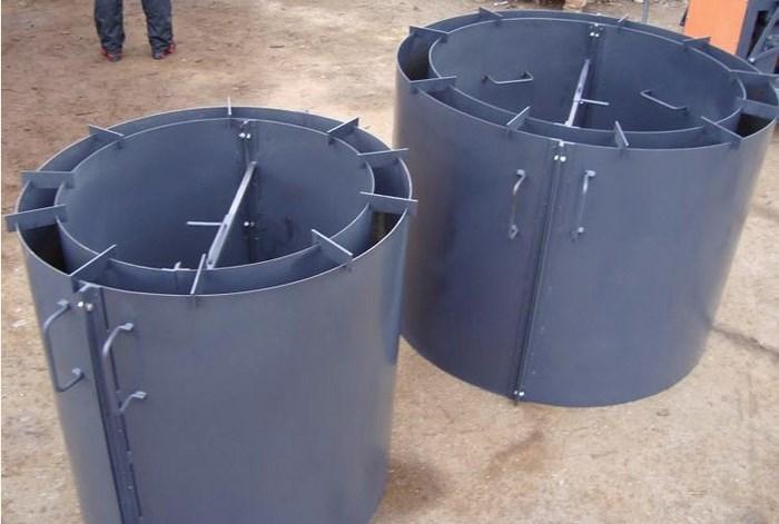 железные формы для отлива колец из бетона