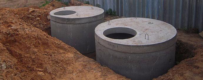Водоотвод из бетонных колец