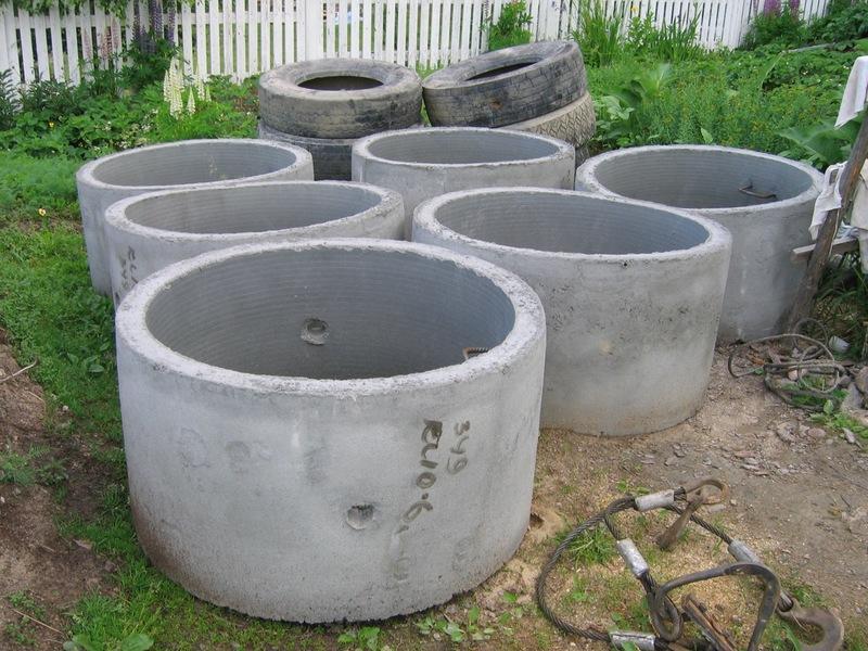 Литые бетонные кольца для септика