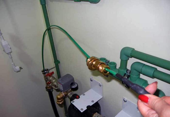 Греющий кабель прокладка внутри трубы