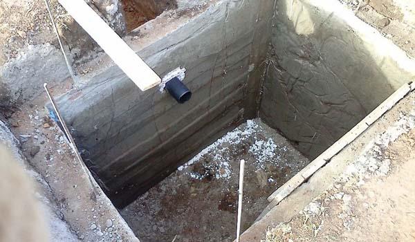 Выгребная яма из бетона