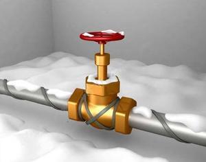 Круговое крепление отопительного провода вокруг трубы