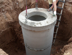 водопроводный колодец для водопровода частного дома
