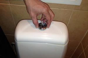 Как выкрутить кнопку бачка