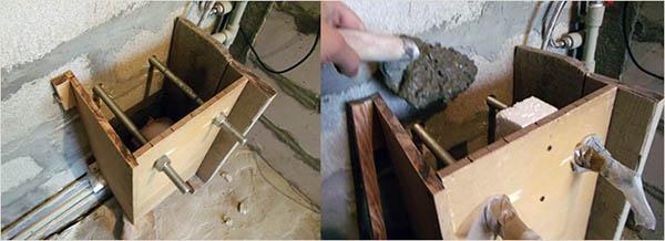 Монтаж и бетонирование опалубки