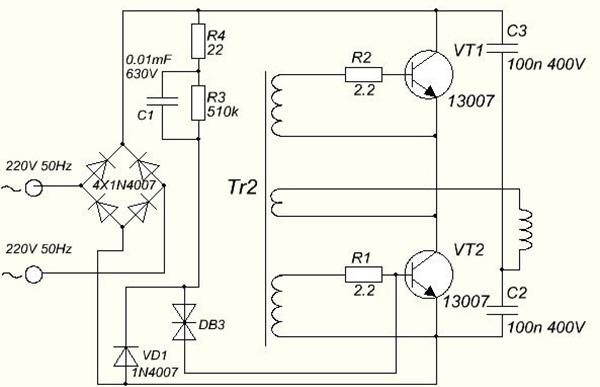 Схема парокапельного обогревателя