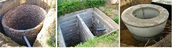 Форма выгребной ямы