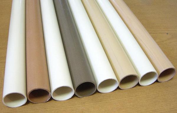 Трубы ПВХ разного цвета