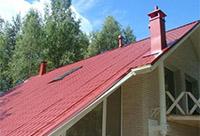 Крыша с газовым дымоходом
