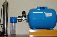 Погружной насос с автоматикой и гидроаккумулятором