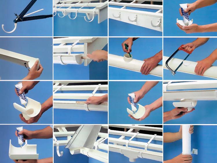 Организация отвода воды с крыши