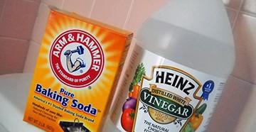 Сода и уксус для труб