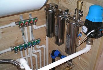 Система водоснабжения из скважины в дом