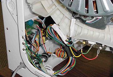 Вид стиральной машины изнутри