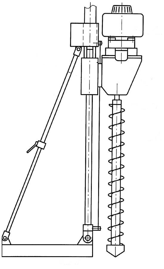 Схема устройства опоры для самодельного бура
