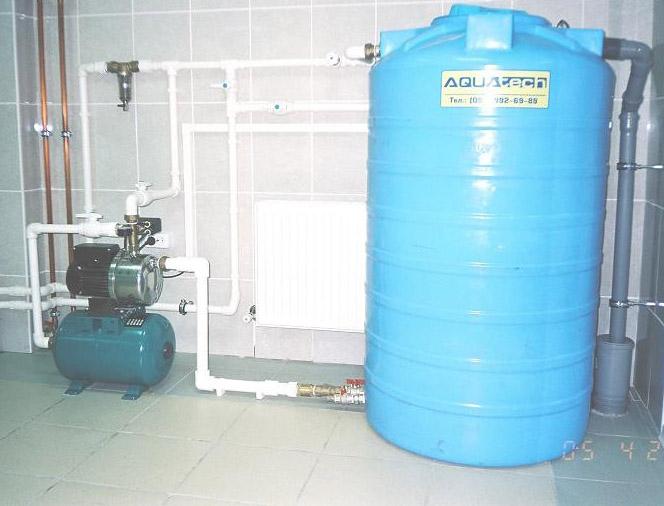 Водяной накопитель насосной станции