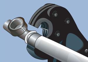 Механические пресс клещи для обжима металопластиковых труб