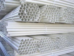 Склад труб из пластика