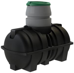 Небольшая пластиковая емкость для канализации