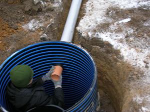 Ввод воды в дом через трубу подключенную к колодцу