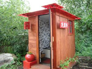 Оригинальный дизайн туалетной кабинки