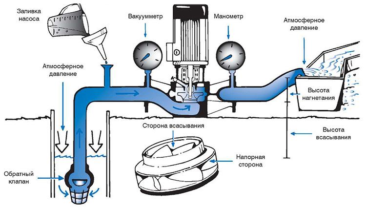 Центробежный насос устройство и принцип действия