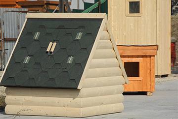 Крыша защитного домика для колодца