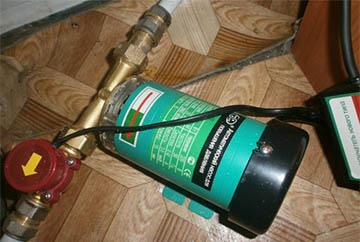 Помпа, повышающая давление воды