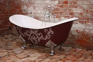 Чугунная ванна в декоративном дизайне