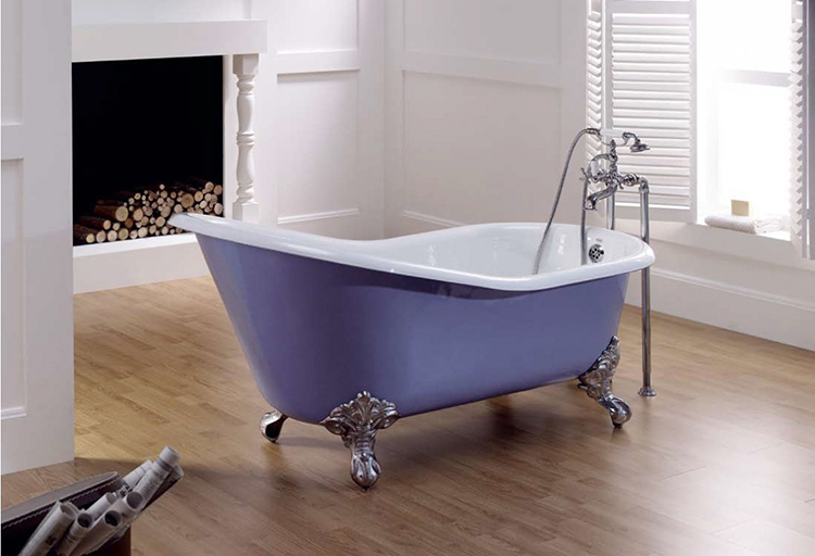 Чугунная ванна в интерьере