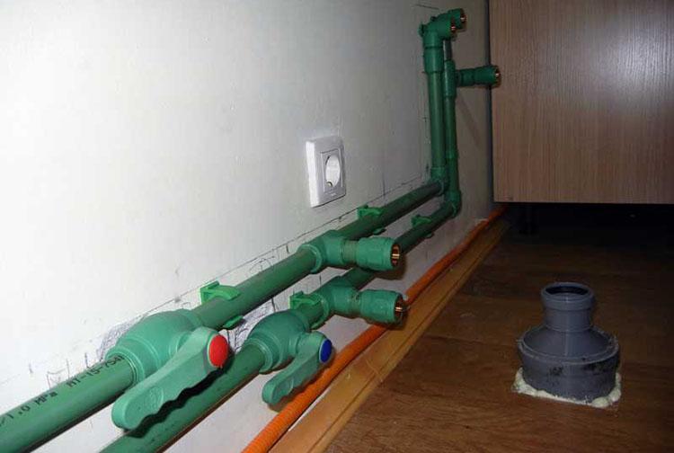 Поипропиленовые трубы - подводка