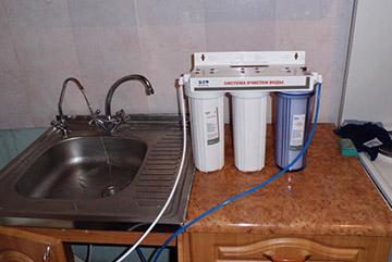 Монтаж водяного фильтра