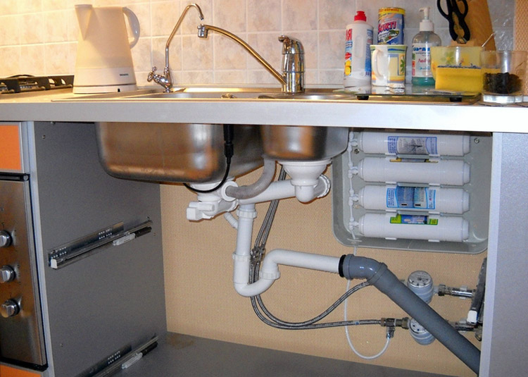 Очистительная система после установки