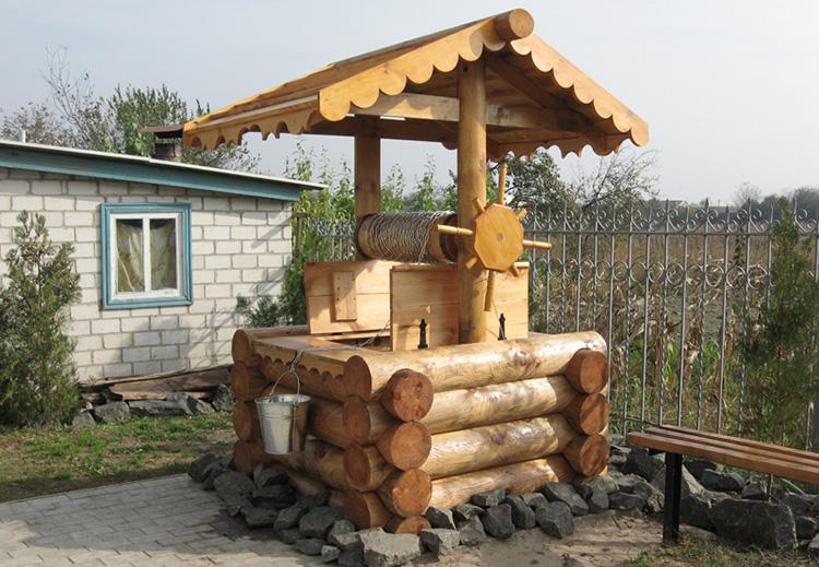 Колодец из дерева