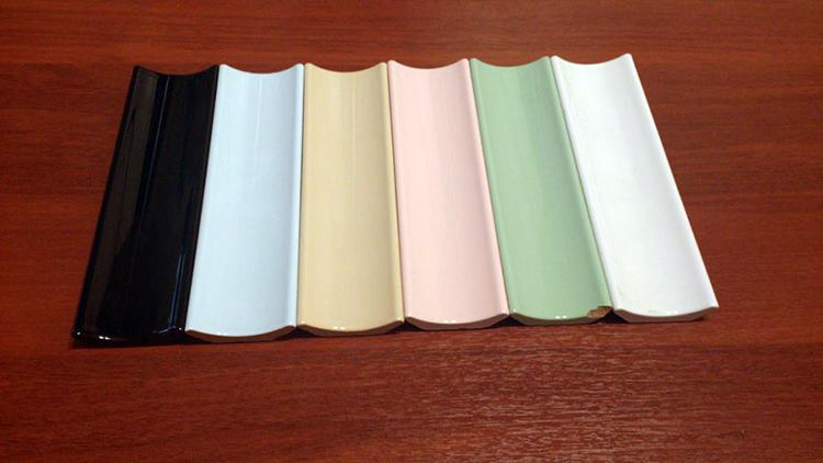 Цветовые варианты бордюров из керамики