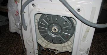Задняя стенка стиральной машины LG