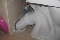 Гофра для соединения унитаза к канализации