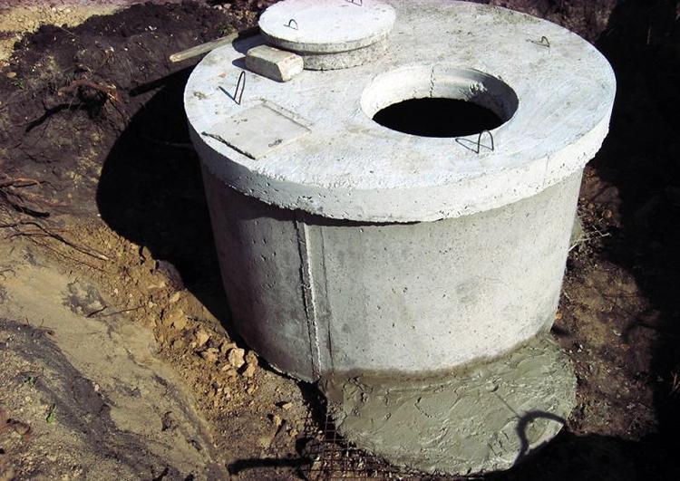 Колодец-отстойник бетонный